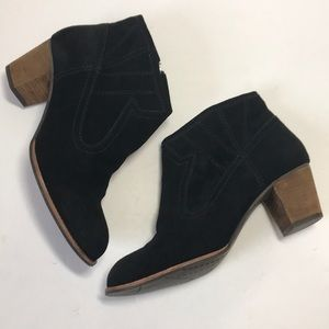 DV Dolce Vita Black Suede Ankle Boot Size 9 1/2 M